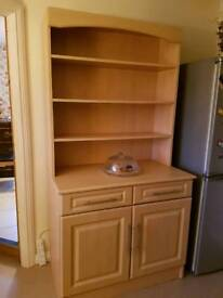 Solid pine dresser with detachable top