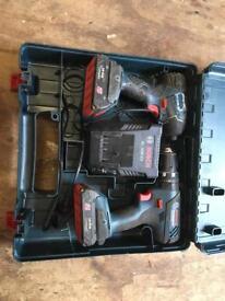 Bosch impact driver & drill set 18v