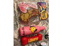 Dog toys new in bag/ squeaky pet toys