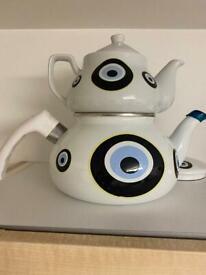 Twoset teapot evil eye
