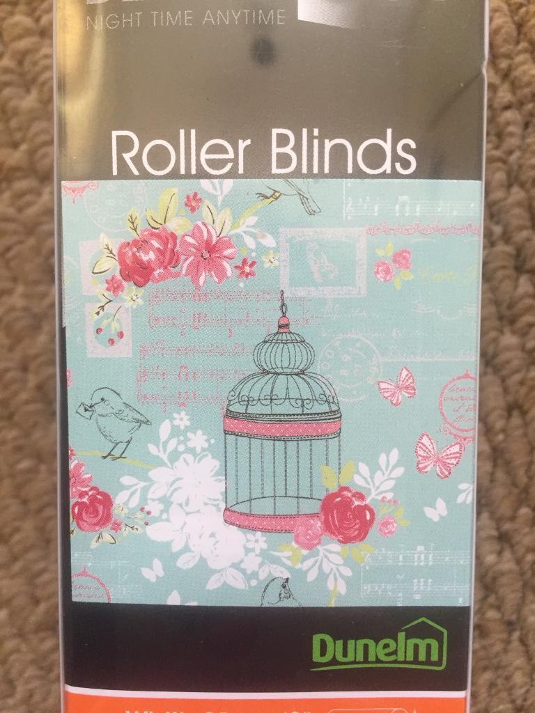 Brand new roller blind vintage style wire bird cage floral unopened ...