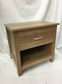 Brand New Oaklohama 1 Drawer Bedside Chest/ Lamp Table SALE SALE