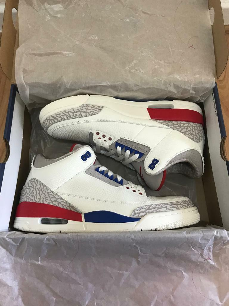 new concept bdc20 69508 Air Jordan 3 Charity Game International Flight! New in the box! Size 10 Uk  11 Us
