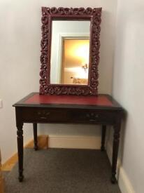 Dressing table and mirror shabby chic.