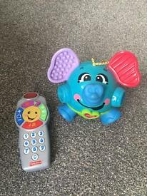 Fisher price toys laughing elephant and toy phone £25 Rrp