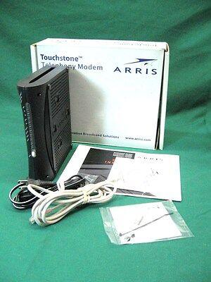 Usb Phone Modem - ARRIS TM402P cable PC MAC modem USB ethernet VOIP tele phone phony, CD