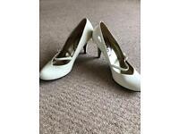Cream Paton dress shoes
