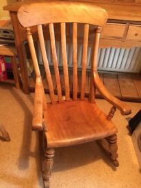 Wooden rocking chair -old!