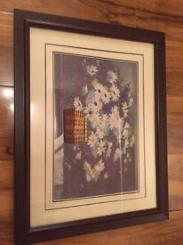 Framed hand embroidery
