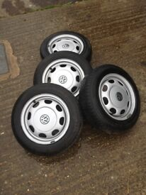 VW polo MK 2 original rims and almost new tyres