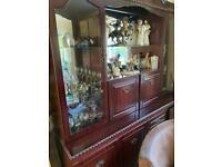 Free to collect mahogany coloured cabinet