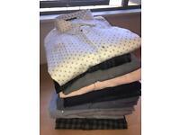 "14 Men's designer shirts all XL / 16.5-17.5"""