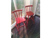 2 x IKEA junior chairs