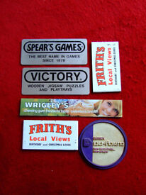 Selection of original 1970s shop display signs advertising adverts retro vintage
