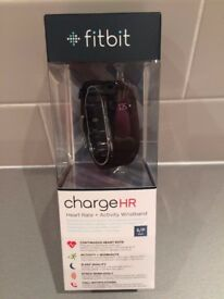 Fitbit Charge HR - Brand New, size small in Black.