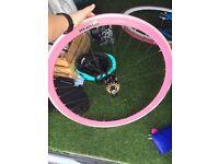 Pink mango fixie wheel