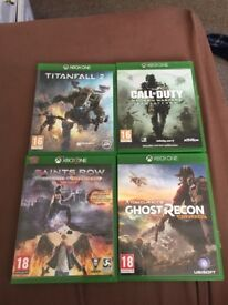 4 Xbox one games for £50