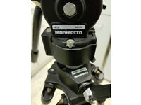 MANFROTTO #028 7.4' Geared 2 Stage Tripod w/ #136 Professional Fluid Head
