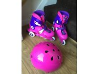 Rollerblades and matching helmet size 1.5