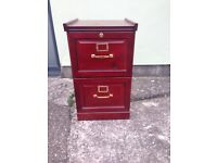 Quality 2 Draw wooden filing cabinet.