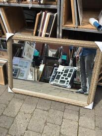 """large ornate silver framed mirror 41""""x29"""""""