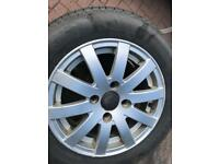 Peugeot 206 alloys and tyres 175/65/14