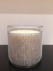 Diamonte candle 3 wick
