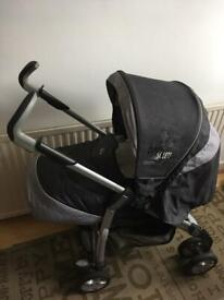 Silver Cross pram/buggy with matching car seat and changing bag