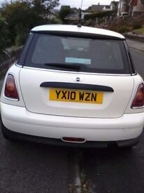 Mini Hatch for sale, perfect condition, new tyres, service history and MOT to Feb 2017