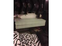 Glass dressing table and bedside tables