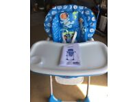 Chicco Polly 2 in 1 Highchair Blue Space