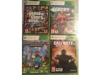 4 game bundle includes GTA 5, FARCRY 4 limited edition, minecraft, call of duty black ops 3