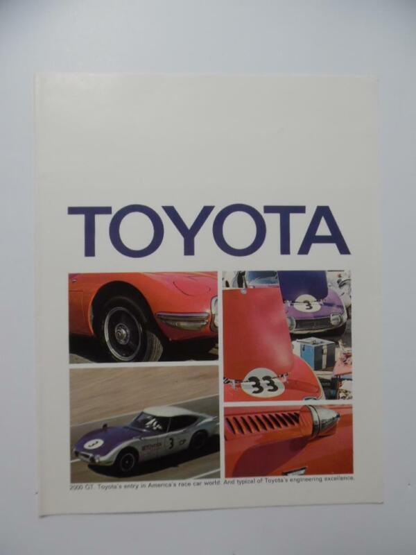 1969 Toyota Car Brochure Crown Land Cruiser Corolla Corona Vintage Original