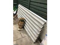 FREE. AS NEW. Two large corrugated roofing sheets