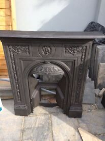 Original Victorian cast iron fireplace - salvaged Biclam No.10 £225