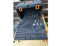 DRILL STORAGE BOX / CASE with 100 DRILL & SCREWDRIVER BITS IN VERY GOOD CONDITION £20 AEG BRAND