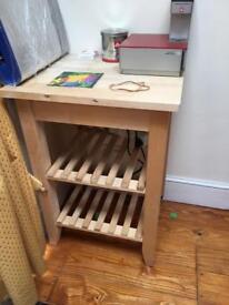 Wooden kitchen trolley.