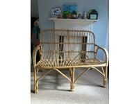 Ratan Cane Two seater sofa and two chairs