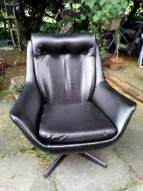 1960s Black Egg Chair