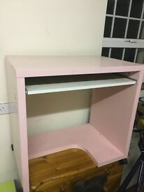 Young girls pink desk