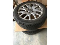 Winter tyres and wheels (4 off) ex TT size ref 225/50R17
