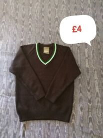🔵Bundle of boys school clothes (new&used good/v.g.cond.), new indoor shoes size3 and free others 🔵