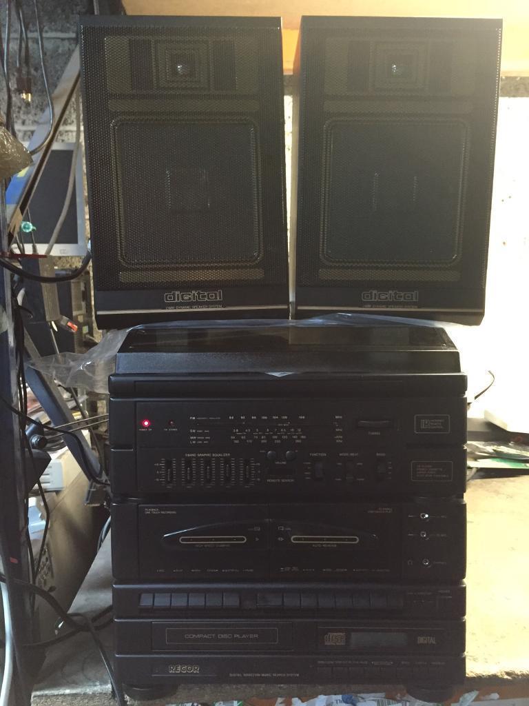 RECOR RC-1103 , Music Centre with Vinyl/CD Player Set . Vintage Retro Oldschool Radio & Vinyl !!