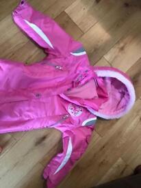 Barbie girls snowsuit age 5/6