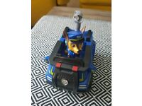 Paw patrol chase in car....