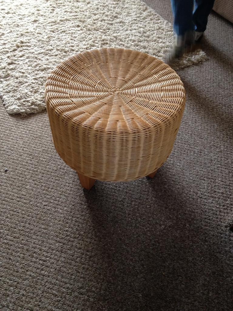 Ikea Wicker Footstool