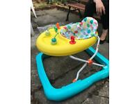 Baby walker, bouncer and travel cot