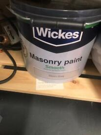 Wickes masonry paint grey unused