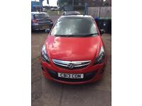 VAUXHALL CORSA 1.2LTD BRIGHT RED 2013