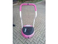 Pink vibration plate fully working needs gone asap can deliver